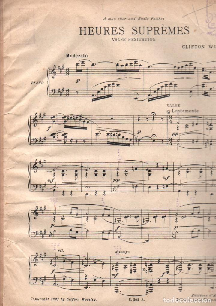 WORSLEY : HEURES SUPREMES (1921) (Música - Partituras Musicales Antiguas)