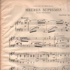 Partituras musicales: WORSLEY : HEURES SUPREMES (1921). Lote 148310950