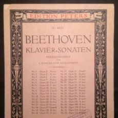 Partituras musicales: BEETHOVEN - KLAVIER-SONATEN EDITION PETERS Nº 4020. Lote 149383178
