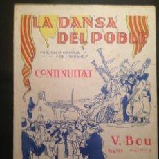 Partituras musicales: LA DANSA DEL POBLE - CONTINUITAT - IBERIA MUSICAL. Lote 149386022