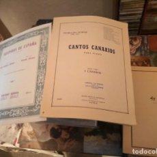 Partituras musicais: 3 PARTITURAS. CANTOS CANARIOS PARA PIANO, AY AY AY, SUSPIROS DE ESPAÑA PASODOBLE. Lote 151494986