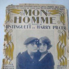 Partituras musicales: PARTITURA MON HOMME - MAURICE YVAIN (FRANCIS SALABERT, 1920). MISTINGUETT Y HARRY PILCER.. Lote 151948110