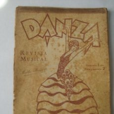 Partituras musicales: DANZA. REVISTA MUSICAL N.º 11 (ED. BOILEAU, ENERO 1932).. Lote 151948494