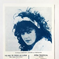 Partituras musicales: PARTITURAS -YO NO TE PIDO LA LUNA.DANIELA ROMO. Lote 151992030