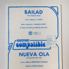 Partituras musicales: PARTITURAS - MIGUEL RIOS - NUEVA OLA. Lote 151992994