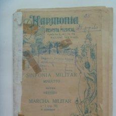 Partituras musicales: PARTITURAS MUY ANTIGUA : SINFONIA MILITAR DE HAYND Y MARCHA MILITAR DE SCHUBERT . ARCHIVO AVIACION. Lote 152040510