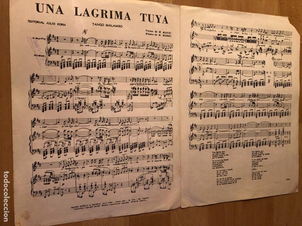 Partituras musicales: Partitura una lágrima tuya los 5 latinos - Foto 2 - 152055188