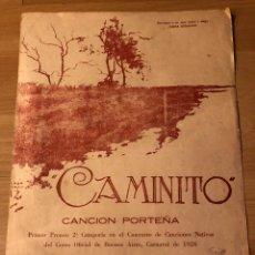 Partituras musicales: PARTITURA CAMINITO CANCIÓN PORTEÑA.TANGO.. Lote 152055760