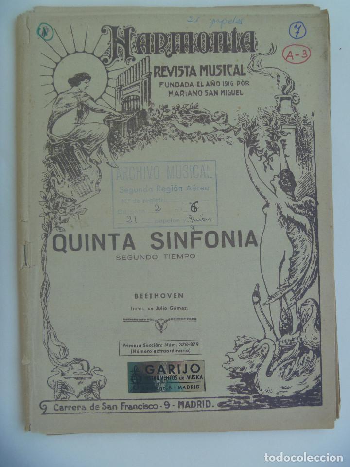Partitura De La Quinta Sinfonia De Beethoven 1950
