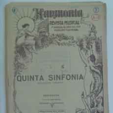 Partituras musicales: PARTITURA DE LA QUINTA SINFONIA DE BEETHOVEN, 1950. Lote 152183750