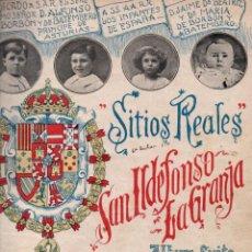 Partituras musicales: ÁNGEL PEÑALVA TÉLLEZ : SITIOS REALES SAN ILDEFONSO LA GRANJA. Lote 152327350