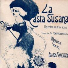 Partituras musicales: JUAN GILBERT : LA CASTA SUSANA - TANDA DE VALSES. Lote 152329258