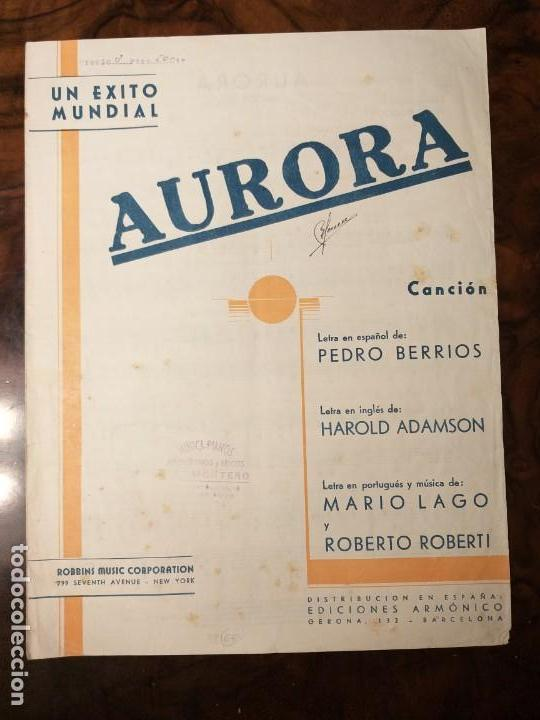 Partitura Aurora Cancion Fox Letra De Pedro Acquista Partiture Musicali Antiche A Todocoleccion 152343958