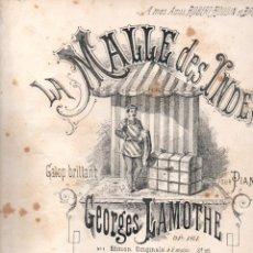 Partiture musicali: GEORGES LAMOTHE : LA MALLE DES INDES - GALOP BRILLANT. Lote 152345582