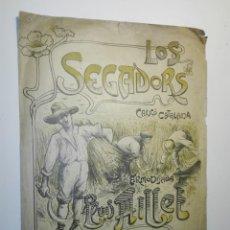 Partituras musicales: LOS SEGADORS CANÇO CATALANA, ARMONISADA PER LLUIS MILLET. CA. 1900. LA MÚSICA ILUSTRADA.. Lote 152496370