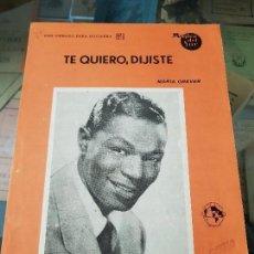 Partituras musicales: PARTITURA TE QUIERO DIJISTE NAT KING COLE MUSICA DEL SUR. Lote 152604830