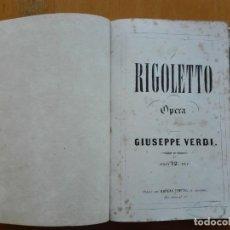 Partituras musicales: RIGOLETTO, GIUSEPPE VERDI. PRIMERA EDICIÓN FRANCESA PARA VOZ Y PIANO ,SEGUNDA IMPRESIÓN. 1854. Lote 154262238