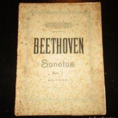Partituras musicales: BEETHOVEN. SONATAS PARA PIANOFORTE VOLUMEN I. EDITADO POR AUGENER´S EN 1903.. Lote 155063766