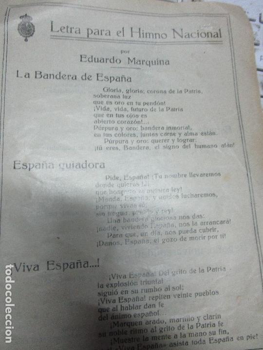 Partituras musicales: virgen LETRA PARA EL himno NACIONAL POR EDUARDO MARQUINA DIPTICO ANTIGUO DE 4 PAGS - Foto 2 - 5099900