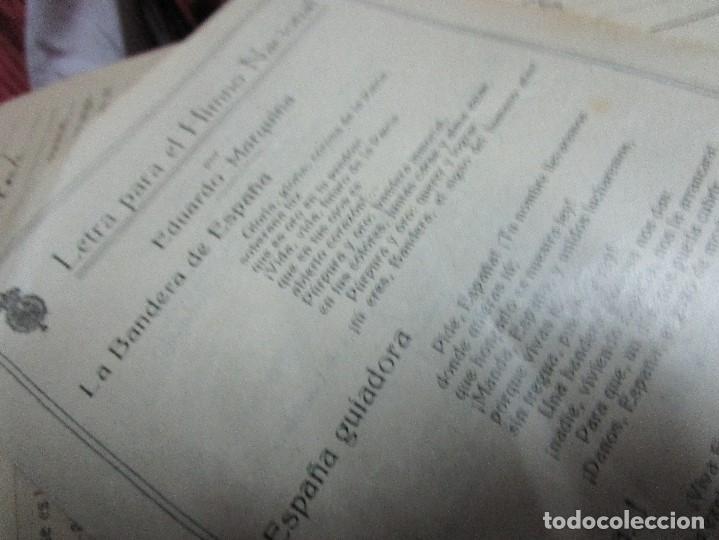 Partituras musicales: virgen LETRA PARA EL himno NACIONAL POR EDUARDO MARQUINA DIPTICO ANTIGUO DE 4 PAGS - Foto 4 - 5099900