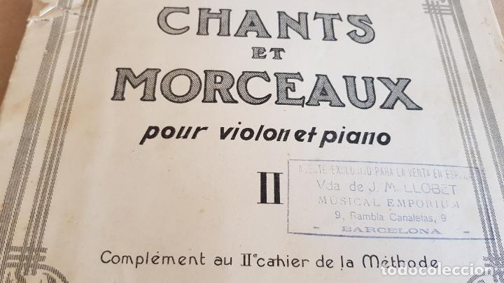 Partituras musicales: CHANTS ET MORCEAUX POUR VIOLON ET PIANO / MATHIEU CRICKBOOM / ED: SCHOTT FRERES-1923 - Foto 2 - 155501966