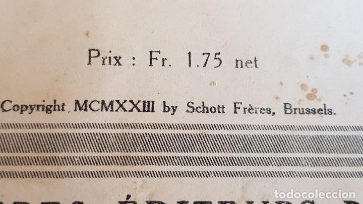 Partituras musicales: CHANTS ET MORCEAUX POUR VIOLON ET PIANO / MATHIEU CRICKBOOM / ED: SCHOTT FRERES-1923 - Foto 3 - 155501966