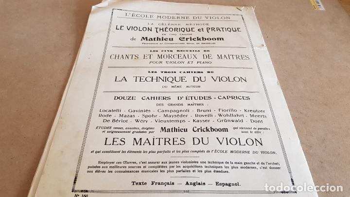 Partituras musicales: CHANTS ET MORCEAUX POUR VIOLON ET PIANO / MATHIEU CRICKBOOM / ED: SCHOTT FRERES-1923 - Foto 6 - 155501966