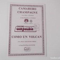 Partituras musicales - CAMARERO CHAMPAGNE (Luis Aguilé) / COMO UN VOLCAN (Los Chichos) - 155511798