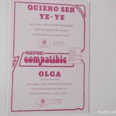 Musical scores - QUIERO SER YE-YE / OLGA (Chan y Chevy) - 155512578