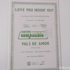 Partituras musicales: LOVE YOU INSIDE OUT (BEE GEES) / VALS DE AMOR. Lote 155703954