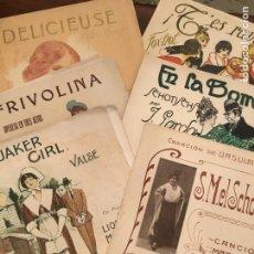 Partituras musicales: LOTE DE SEIS PARTITURAS, VALSE, CANCIÓN MADRILEÑA, FOX-TROT, OPERETA. Lote 155831354