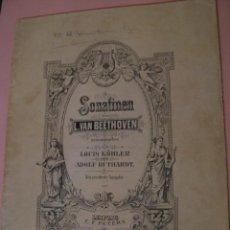 Partituras musicales: SONATINEN. L. VAN BEETHOVEN. LEIPZIG C. F. PETERS. ALEMANIA. . Lote 155859386