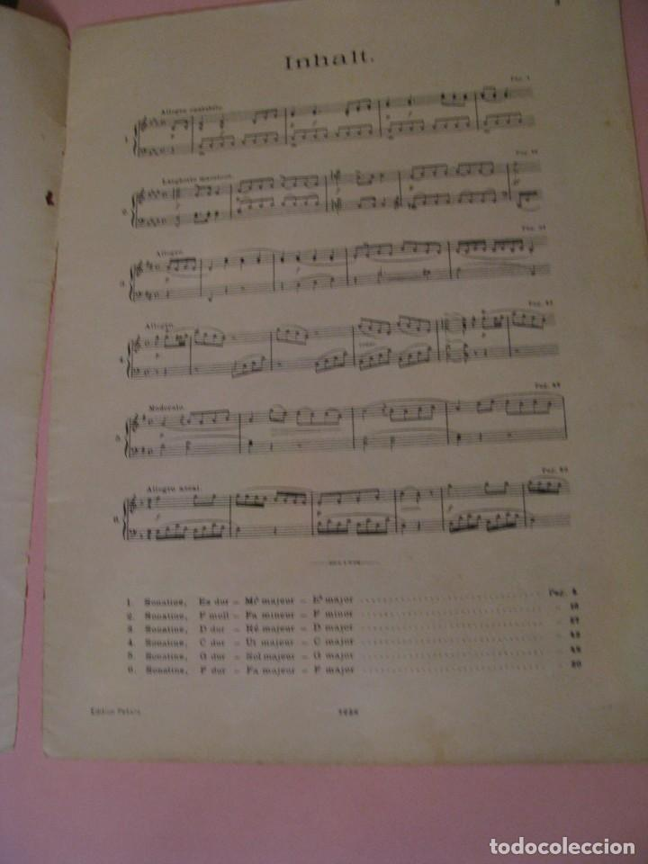 Partituras musicales: SONATINEN. L. VAN BEETHOVEN. LEIPZIG C. F. PETERS. ALEMANIA. - Foto 2 - 155859386