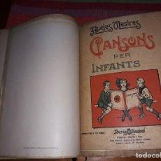Partituras musicales: UN RECOPILATORIO DE MÚSICA RELIGIOSA (PARTITURAS Y CANCIONES) DESDE 1911. Lote 155971798