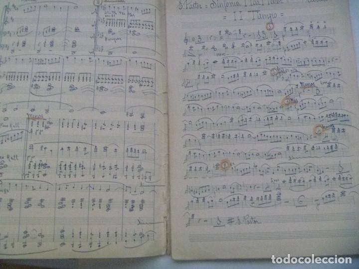 Partituras musicales: PARTITURA MANUSCRITAS DE LA SINFONIA MAR MENOR DE ERNESTO PASTOR SOLER - Foto 2 - 156299030