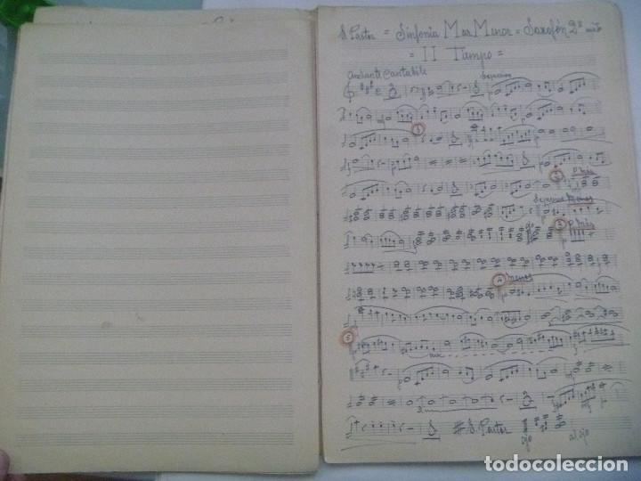 Partituras musicales: PARTITURA MANUSCRITAS DE LA SINFONIA MAR MENOR DE ERNESTO PASTOR SOLER - Foto 3 - 156299030