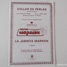 Partituras musicales: COLLAR DE PERLAS (A STRING OF PEARLS) / LA JARRITA MARRON (GLENN MILLER). Lote 156539558