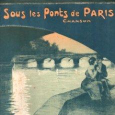 Partituras musicales: RODOR / SCOTTO SOUS LES PONTS DE PARIS (DELORMEL, 1913). Lote 156597782