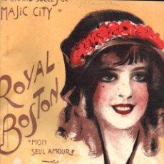 Partituras musicales: RHYNAL : ROYAL BOSTON MON SEUL AMOUR (MARCHETTI, 1913). Lote 156598506