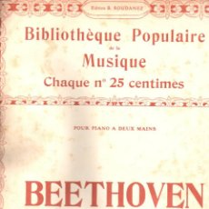 Partituras musicales: BEETHOVEN . ÉLISE (1906). Lote 156598850