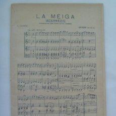 Partituras musicales: PARTITURA DE LA MEIGA DE J. GURIDI ...... EDICION ANTIGUA, TRASCRIPCION PARA BANDA POR M. LINARES. Lote 156906674