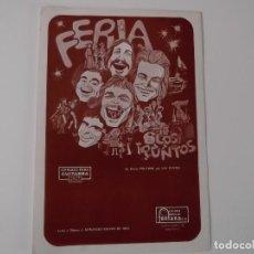 Partituras musicales: FERIA (LOS PUNTOS) CIFRADO PARA GUITARRA 1975. Lote 157894042