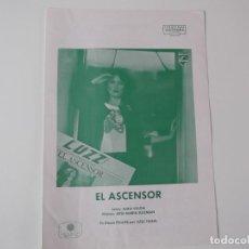 Partituras musicales: EL ASCENSOR (LUZ CASAL) CIFRADO GUITARRA 1980. Lote 157934598