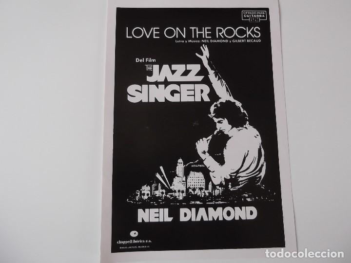 Love On The Rocks Del Film The Jazz Singer N Buy Old Musical Scores At Todocoleccion 158016174