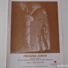 Partiture musicali: INDIANA JONES (DEL FILM INDIANA JONES EN EL TEMPLO MALDITO) (JOHN WILLIAMS) 1981. Lote 158336146