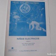 Partituras musicales: NIÑOS ELECTRICOS (MIGUEL RIOS) CIFRADO GUITARRA 1982. Lote 158350358