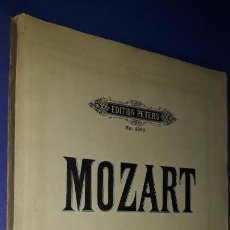 Partituras musicales: MOZART SONATEN- EDITION PETERS Nº 486. Lote 192616993