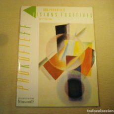 Partituras musicales: PROKOFIEFF. VISIONES FUGITIVAS. OP 22 FOR PIANO. XX PIECES.. Lote 158777826