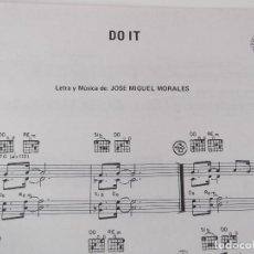 Partituras musicales: DO IT (BARRABAS) CIFRADO GUITARRA 1978. Lote 158813746