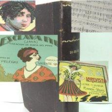 Partituras musicais: 96X REVISTA DO-RE-MI-PUBLICACION SEMANAL-MUSICA PARTITURA 35 CTS 1920-PORTADAS-EDIT.BARCELONA LIBRO. Lote 159291470